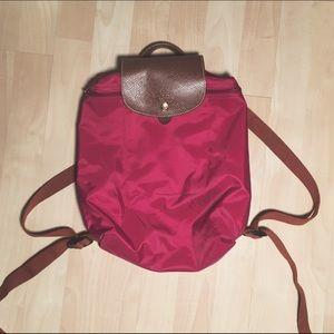 Longchamp Le Pliage Backpack Dahlia